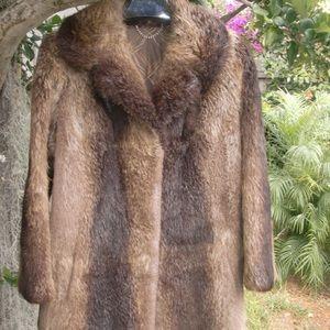 Retro Nutria Fur Jacket Imported Germany Vintage